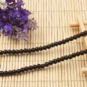 Beads, Glass, Black , Round shape, Diameter 4mm, 40 Beads, [BHB0111]